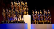 The Golden Neptune Trophies for the Showboats Design Awards Winners