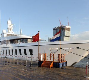 New 99 m motor yacht Project DREAM (hull 1004) launched by Feadship