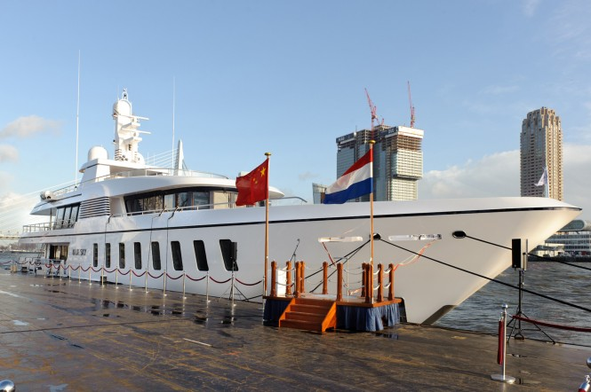 The latest Feadship delivery - F45 Vantage superyacht Blue Sky