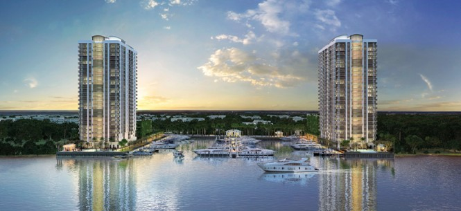 Twin Luxury Condo Towers Rise in North Miami Beach