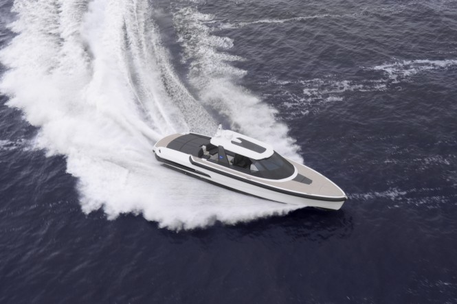 Vripack designed Ribbon 45 SC superyacht tender by Ribbon Yachts