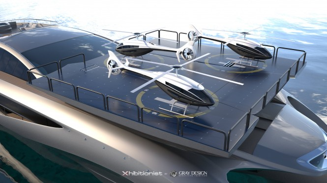 Xhibitionist Yacht Concept - Helipad