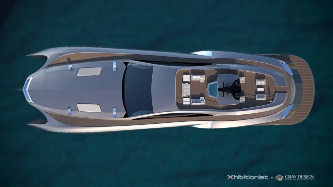 Xhibitionist Yacht Concept - View from above