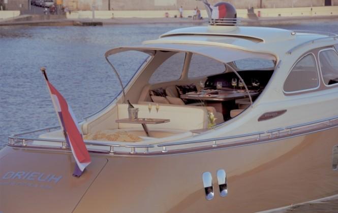 Zeelander 44 yacht tender - aft view
