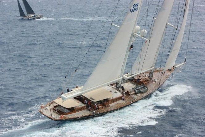 The majestic sailing yacht Athos Credit: Tim Wright/Photoaction.com