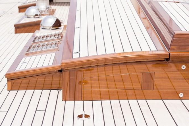 On board Kamaxitha superyacht - Photo by Cory Silken