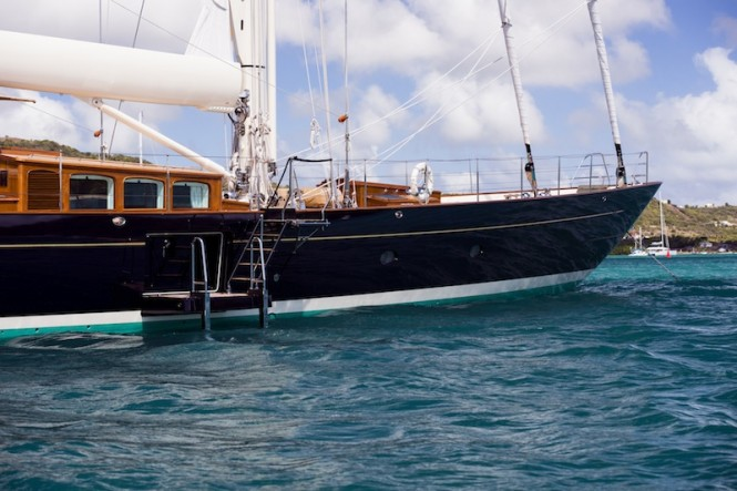 Royal Huisman Luxury Sailing Yacht Pumula - Photo by Cory Silken