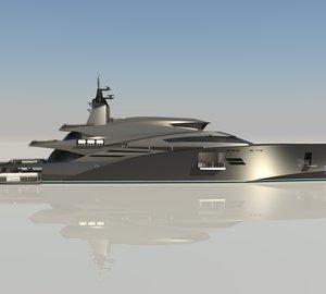 Impressive 245ft mega yacht ELEMENTUM concept by Christopher Seymour Designs