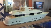 29m superyacht Belle de Jour by Flevo Ship Holland in model form