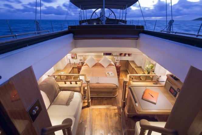 Royal Huisman Luxury superyacht Pumula - Owners Cabin- Photo by Cory Silken