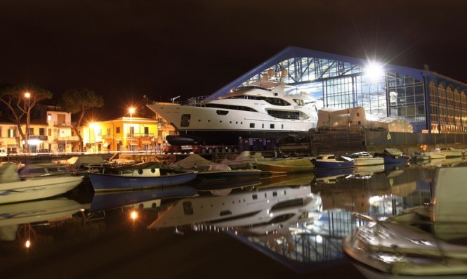 42m superyacht Luna at launch