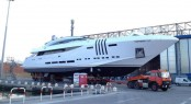 48m Project Ketos Yacht Vellmari (hull FR026) by Rossinavi at launch