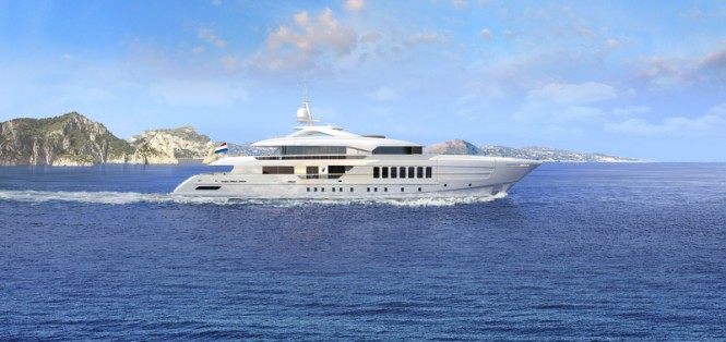 55m Heesen fast displacement superyacht YN 17255 designed by Omega Architects - Photo credit Heesen Yachts