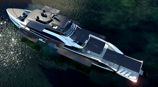 62m H2 Mega Yacht Concept - view from above