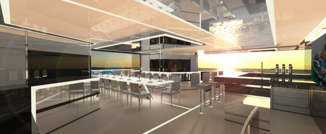 62m H2 Yacht Design - dining area