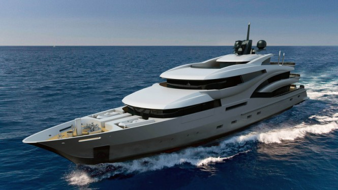 75m mega yacht Project Black&White by Uldas Design