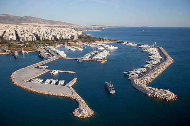 Aerial View of Flisvos Marina