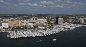 Aerial View of Palm Beach International Boat Show - Photo by 2012 Forest Johnson