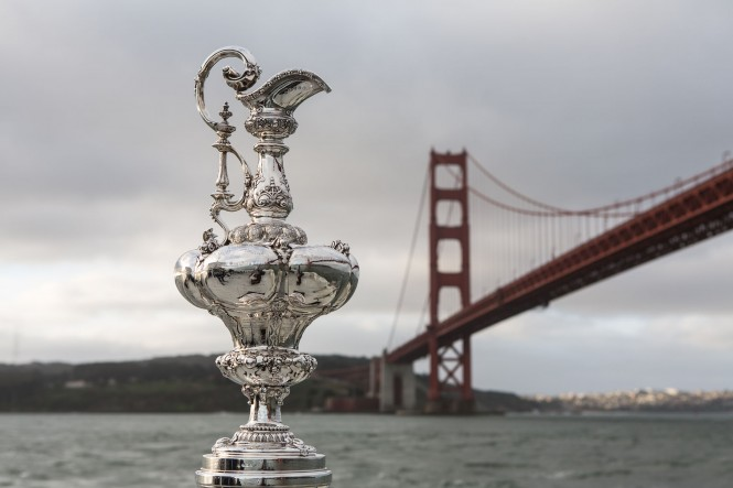 America's Cup Trophy in San Francisco © ACEA 2013: Photo Gilles Martin-Raget