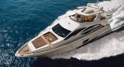 Azimut 82 superyacht on display at Dubai International Boat Show 2013