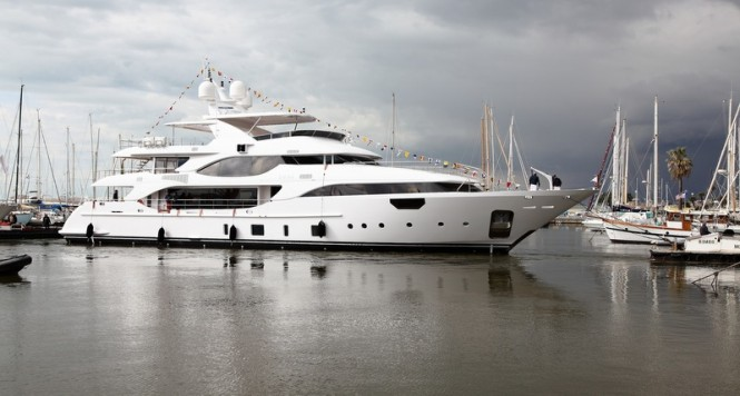 Benetti Crystal 140 Yacht Luna (BY002) on the water