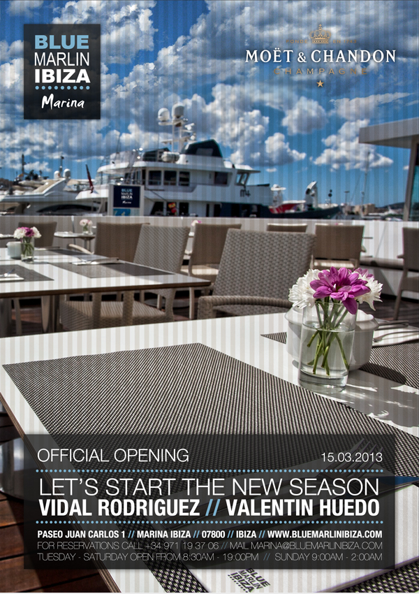 Blue Marlin Ibiza Marina Opening Flyer