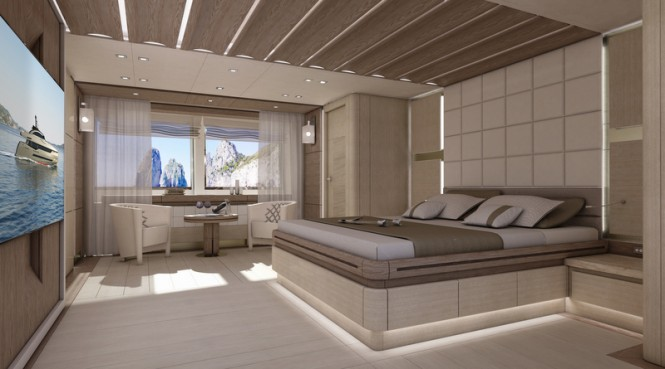 Columbus Sport 130 Hybrid Superyacht - Owners Stateroom
