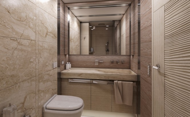 Columbus Sport 130 Hybrid Yacht - Guest Twin Cabin - Bathroom