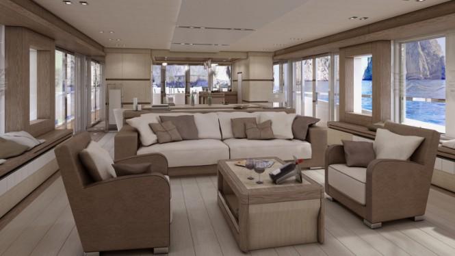 Columbus sport 130 hybrid yacht by palumbo with interior for Interior design columbus ohio