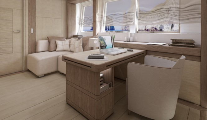 Columbus Sport 130 Hybrid Yacht - Office