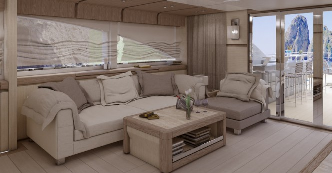 Columbus Sport 130 Hybrid Yacht - Sky Lounge