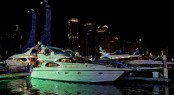Dubai International Boat Show by night