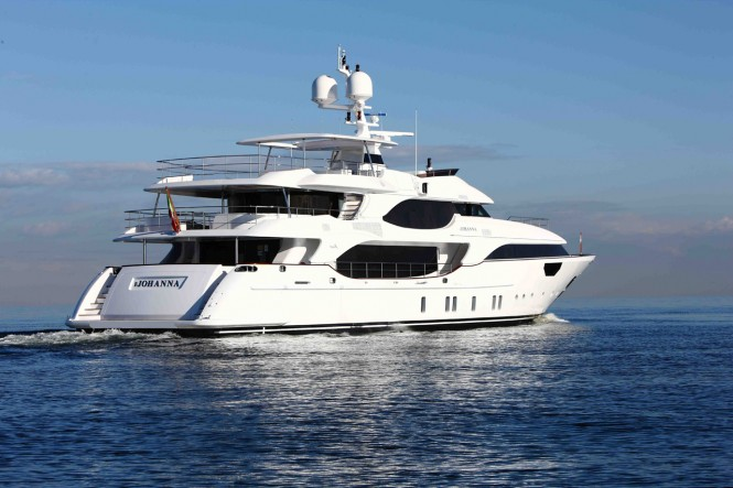 First Benetti Crystal 140 motor yacht Johanna launched in 2010 - Image credit Benetti