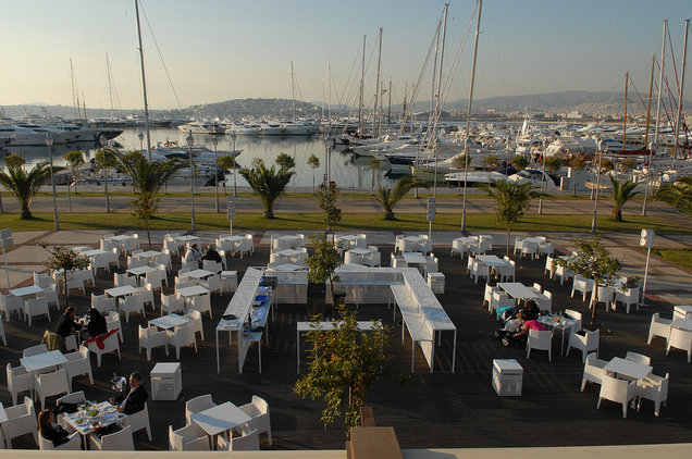 Flisvos Marina situated in the beautiful summer yacht charter destination - Greece