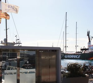 Guided visit to 50m Greenpeace expedition yacht ARCTIC SUNRISE for employees of Marina Palma Cuarentena