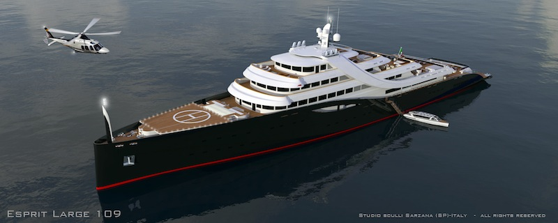 Helicopter Pad Esprit Large Yacht By Mauro Sculli