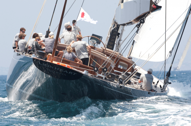J Class superyacht Lionheart at SYC 2011 - Photo by clairematches.com