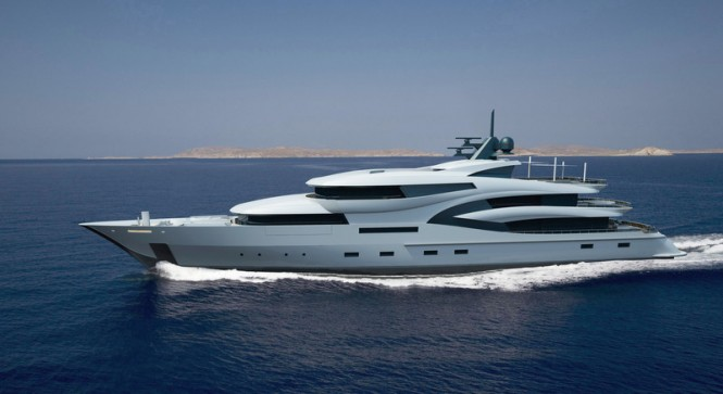 Latest 75m Project Black&White Yacht by Uldas Design