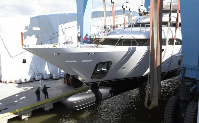 Launch of the second Crystal 140 superyacht Luna by Benetti