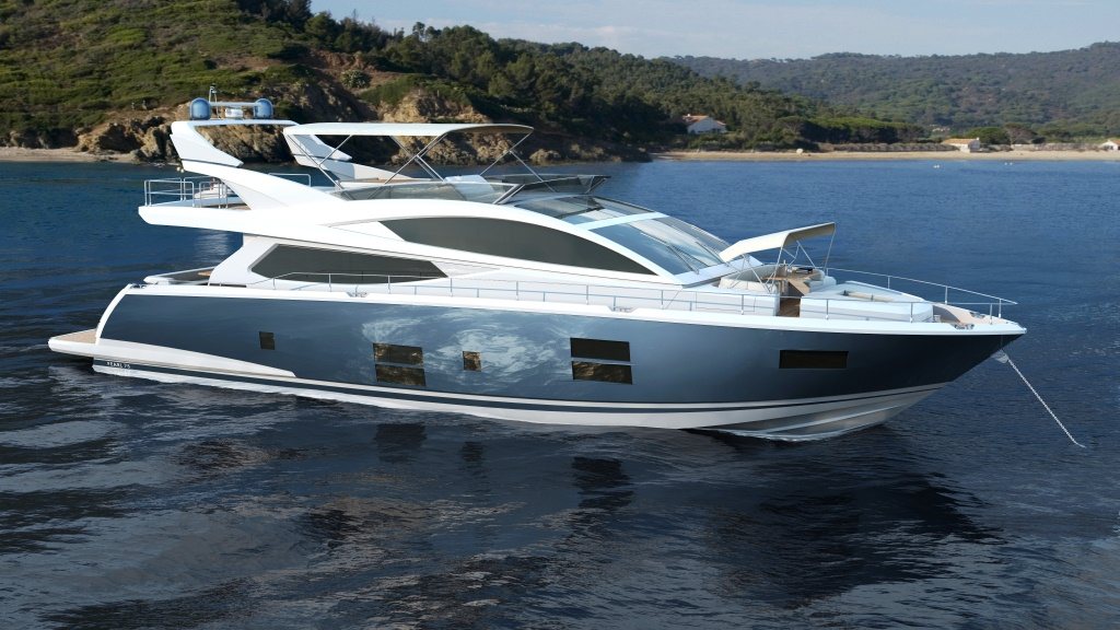 Luxury motor yacht pearl 75 by pearl motor yachts yacht for Princess 75 motor yacht