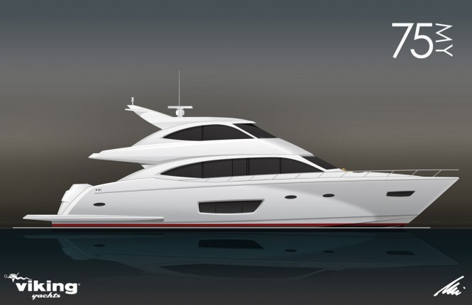 Luxury motor yacht Viking 75 by Viking Yachts