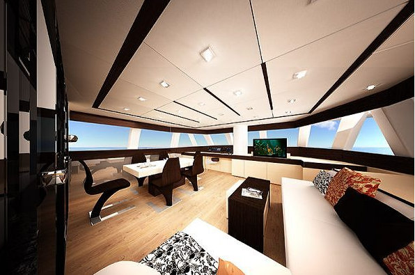 Luxury yacht Sunreef 60 LOFT concept - Salon