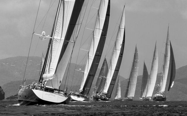 Luxury yachts competing in Loro Piana Caribbean Superyacht Regatta and Rendezvous 2013