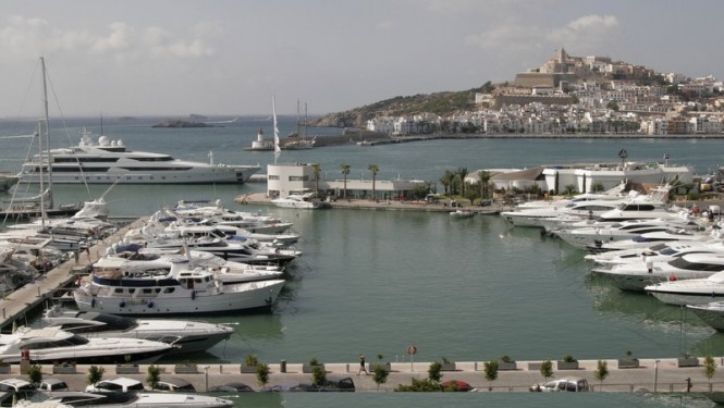 Marina Ibiza - superyacht marina situated in the popular Spanish yacht charter destination - Ibiza