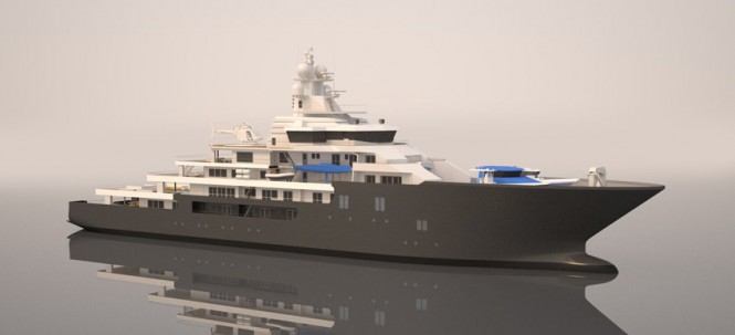 New 107m Explorer Superyacht to be built by Kleven