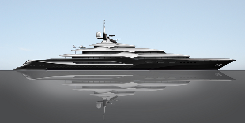 New 138m Mega Yacht Dash Concept By Newcruise