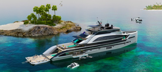 New 62m H2 Yacht Design