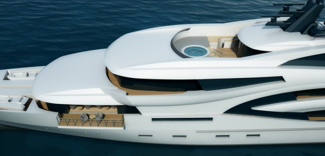 New 75m superyacht Project Black&White by Uldas Design