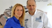 New Sales Director in China - Ewa Stachurska with Sunreef Yachts President - Francis Lapp