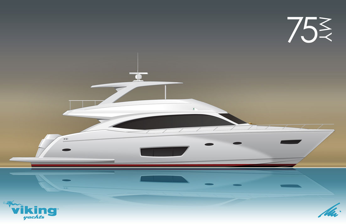 New Viking 75 Yacht By Viking Yachts Yacht Charter